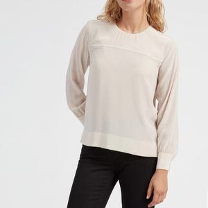 Everlane The Silk Long Sleeve Blouse
